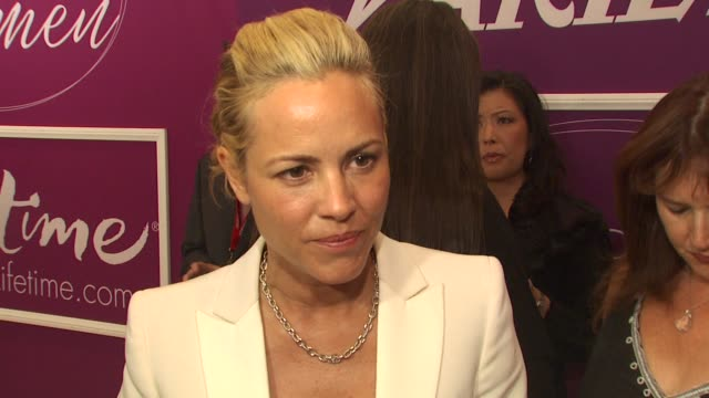 maria bello on being honored and on her work in darfur. at the variety's 1st annual power of women luncheon at beverly hills ca. - maria bello stock videos & royalty-free footage