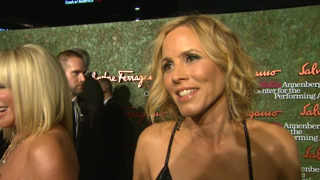 stockvideo's en b-roll-footage met maria bello on why she wanted to attend tonight's gala been happy to see the project completed after 10 years and what it's gonna mean to have this... - maria bello