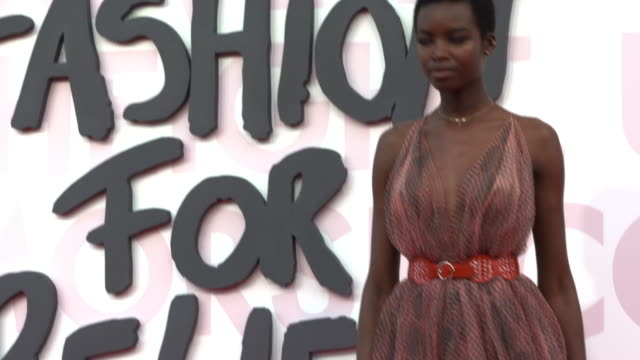maria borges at fashion for relief fashion catwalk - the 71st cannes fillm festival at aeroport cannes mandelieu on may 13, 2018 in cannes, france. - 第71回カンヌ国際映画祭点の映像素材/bロール