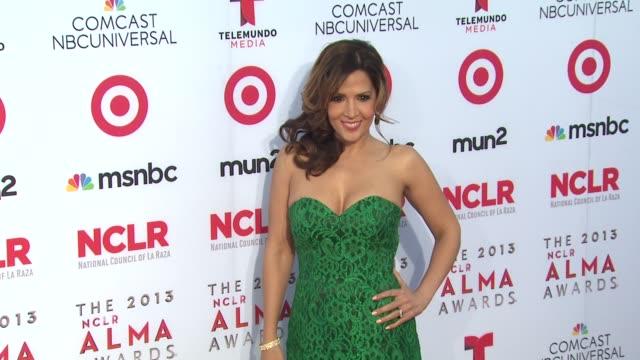 maria canalsbarrera at 2013 nclr alma awards on 9/27/2013 in pasadena ca - alma awards stock videos and b-roll footage