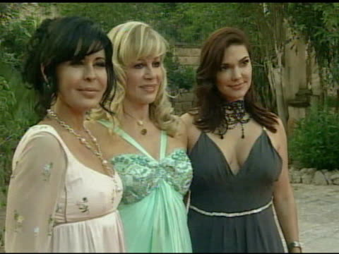 maria conchita alonso daphna edwards ziman and laura harring at the playing for good philanthropic summit 2007 in mallorca on september 1 2007 - laura harring stock videos & royalty-free footage