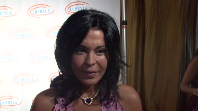 maria conchita alonso on the event how she decides which charity to support at the 9th annual lupus la orange ball at beverly hills ca - lupus la orange ball video stock e b–roll