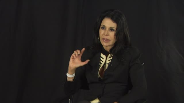 maria conchita alonso on whether her speaking out is a campaign against oliver stone or hugo chavez at the maria conchita alonso attacks oliver... - ウゴ・チャベス点の映像素材/bロール