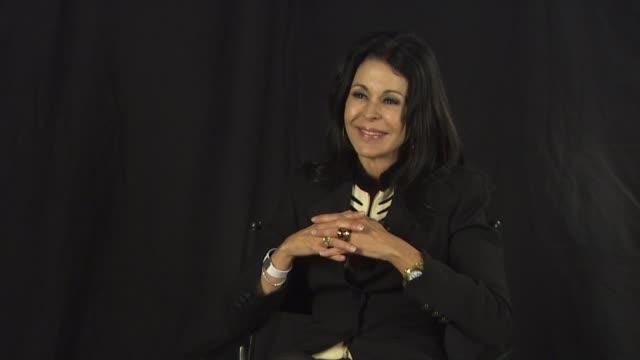 maria conchita alonso on why she feels oliver stone has become 'propaganda minister' for hugo chavez at the maria conchita alonso attacks oliver... - ウゴ・チャベス点の映像素材/bロール