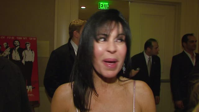 maria conchita alonso on why she's attending the event on not loving sacha baron cohen's borat at the israel film festival opening night gala at the... - borat sagdiyev stock-videos und b-roll-filmmaterial