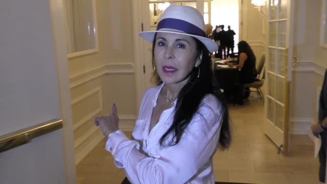 INTERVIEW Maria Conchita Alonso talks about MundoFlix outside the MundoFlix Party at Sportsmen's Lodge in Studio City in Celebrity Sightings in Los...