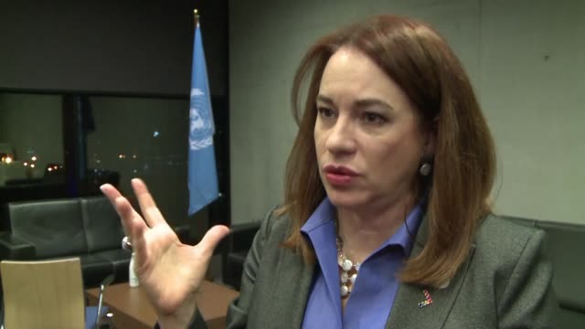maria espinosa president of the united nations general assembly says climate and jobs can coexist as representatives from nearly 200 countries begin... - united nations general assembly stock videos & royalty-free footage