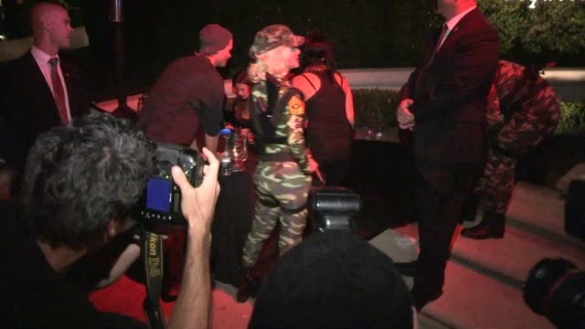 Maria Menounos as a Blonde GI Jane at a Halloween Party in Casamigos Tequila in Beverly Hills in Celebrity Sightings in Los Angeles