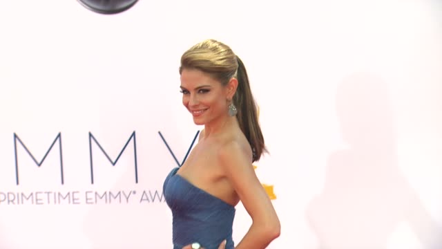 Maria Menounos at 64th Primetime Emmy Awards Arrivals on 9/23/12 in Los Angeles CA