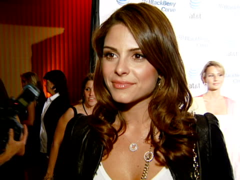Maria Menounos at the BlackBerry Curve from ATT US Launch Party at Beverly Hills California