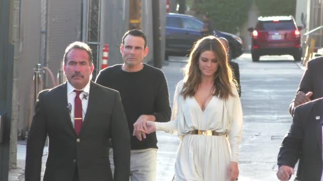 Maria Menounos Keven Undergaro leaving Jimmy Kimmel Live in Hollywood in Celebrity Sightings in Los Angeles