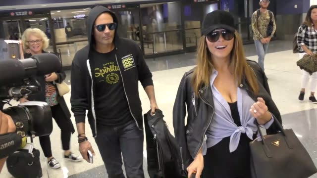 INTERVIEW Maria Menounos talks about Wrestlers Rob Gronkowski in Wrestlemania while arriving at LAX Airport in Los Angeles in Celebrity Sightings in...