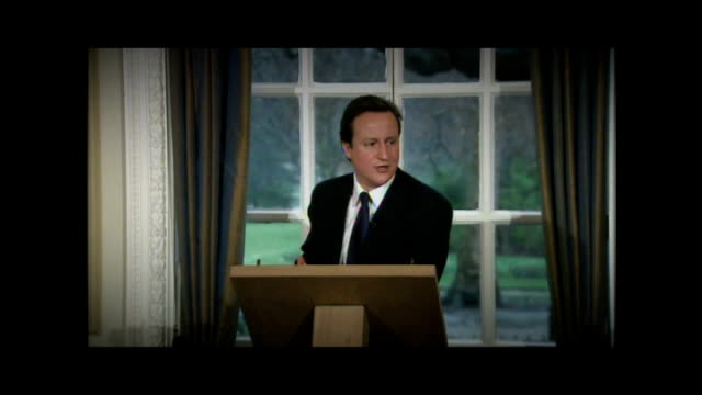maria miller expenses row: david cameron suggests a problem with the system; lib: 9.2.2009 / r09020906 conservative hq: int david cameron mp monthly... - デイリーメール点の映像素材/bロール