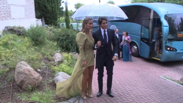 maria pombo and pablo castellanos attend influencers maría g de jaime and tomás paramo´s wedding - paramo stock videos and b-roll footage