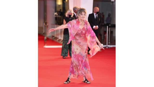 venice italy september 09 maria rosaria alati walks the red carpet ahead of the movie le sorelle macaluso at the 77th venice film festival on... - gif stock videos & royalty-free footage