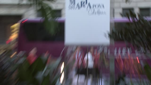 'maria sharapova by cole haan' collection at the maria sharapova unveils 'maria sharapova by cole haan' collection at new york ny - maria sharapova stock videos and b-roll footage