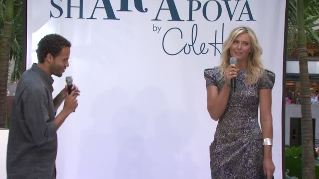 maria sharapova counts down the unveling of the new advertising campaign for the 'maria sharapova by cole haan' collection launch at the maria... - maria sharapova stock videos and b-roll footage