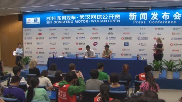 maria sharapova led tributes to li na at chinas wuhan open sunday as the local hero tearfully explained her decision to retire to journalists in... - maria sharapova stock videos and b-roll footage