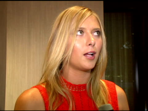 maria sharapova on billie jean king and women's sport at the women's sports foundation presents inaugural the billies at the beverly hilton in... - maria sharapova stock videos and b-roll footage