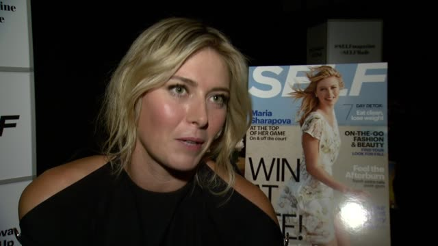 clean maria sharapova self magazine's editorinchief joyce chang host how to be self made sugarpova pop up store at the andaz on august 18 2014 in new... - 刊行物点の映像素材/bロール