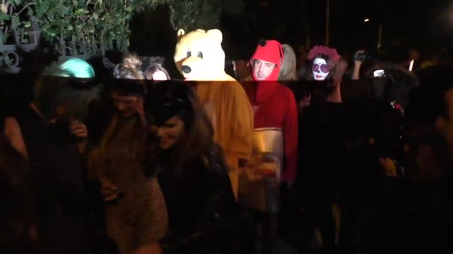 Maria Shriver and Katherine Schwarzenegger at the Casamigos Tequila 'Dia De Los Muertos' Halloween party in Beverly Hills at Celebrity Sightings in...
