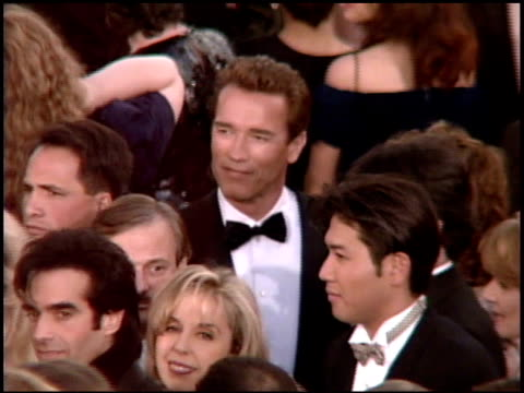 maria shriver at the 1995 academy awards arrivals at the shrine auditorium in los angeles, california on march 27, 1995. - 67th annual academy awards stock videos & royalty-free footage