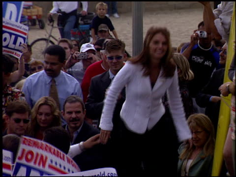 Maria Shriver at the Arnold Schwarzenegger Campaign on October 6 2003