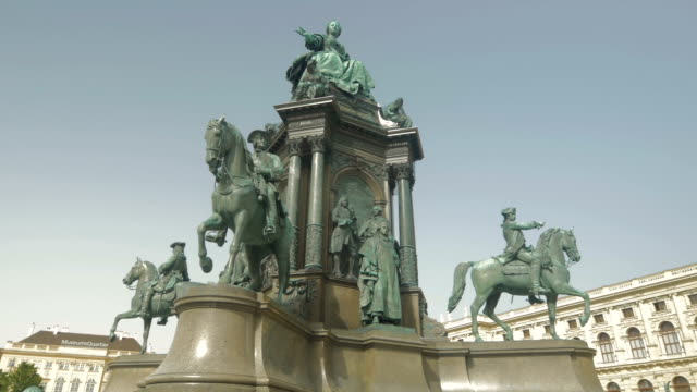 Maria Theresien-Platz and Natural History Museum.Pan L to R.