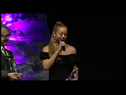 mariah carey accepts her award at the bmi urban awards at roseland ballroom in new york, new york on august 30, 2006. - mariah carey stock videos & royalty-free footage