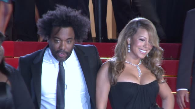 mariah carey and director lee daniels at the cannes film festival 2009 thirst/precious steps at cannes - mariah carey stock videos and b-roll footage