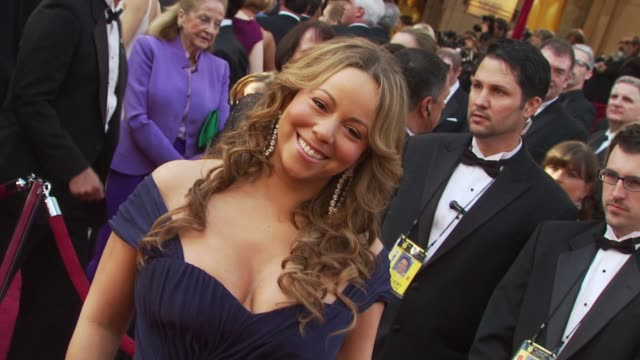 mariah carey and nick cannon at the 82nd annual academy awards arrivals at hollywood ca - nick cannon stock videos & royalty-free footage