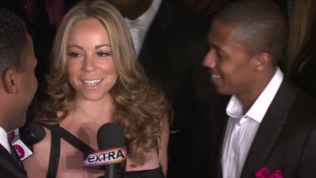 mariah carey and nick cannon at the the whitney museum of american art's gala and studio party at new york ny - nick cannon stock videos & royalty-free footage