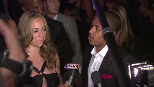 mariah carey and nick cannon on coming to support the cause at the the whitney museum of american art's gala and studio party at new york ny - nick cannon stock videos & royalty-free footage
