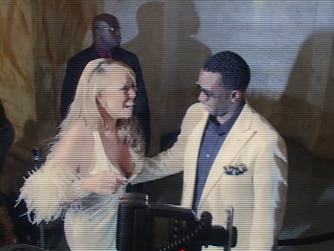 Mariah Carey and Sean P Diddy Combs at the Mariah Carey Record Release Party at in New York City California