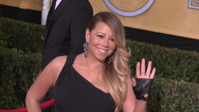 mariah carey at 20th annual screen actors guild awards arrivals at the shrine auditorium on in los angeles california - mariah carey stock-videos und b-roll-filmmaterial