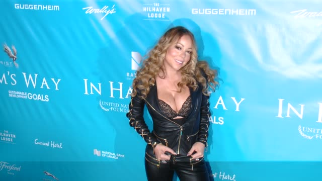 mariah carey at brett ratner and david raymond host special event for un secretarygeneral ban kimoon in los angeles ca - mariah carey stock-videos und b-roll-filmmaterial