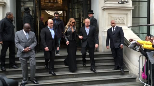 mariah carey at celebrity sightings in london on march 21 2016 in london england - candid stock videos & royalty-free footage