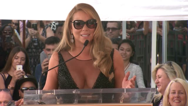 speech mariah carey at mariah carey honored with star on the hollywood walk of fame on august 05 2015 in hollywood california - mariah carey stock videos and b-roll footage