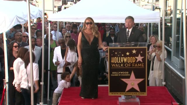 mariah carey at mariah carey honored with star on the hollywood walk of fame on august 05 2015 in hollywood california - mariah carey stock videos and b-roll footage
