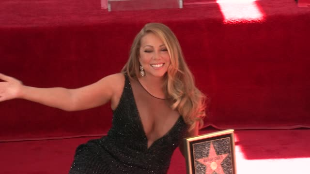 mariah carey at mariah carey honored with star on the hollywood walk of fame on august 05 2015 in hollywood california - mariah carey stock-videos und b-roll-filmmaterial