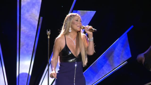 performance mariah carey at sixth biennial unicef ball honoring david beckham and cl max mikias presented by louis vuitton at the beverly wilshire... - mariah carey stock-videos und b-roll-filmmaterial