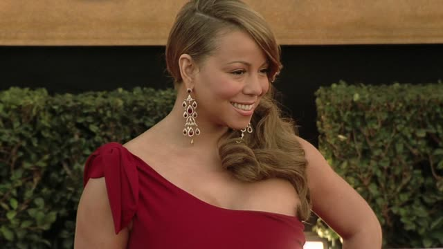 mariah carey at the 16th annual screen actors guild awards arrivals at los angeles ca - mariah carey stock-videos und b-roll-filmmaterial