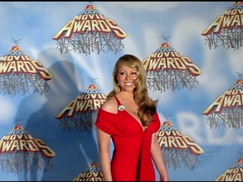 Mariah Carey at the 2005 MTV Movie Awards press room at the Shrine Auditorium in Los Angeles California on June 5 2005
