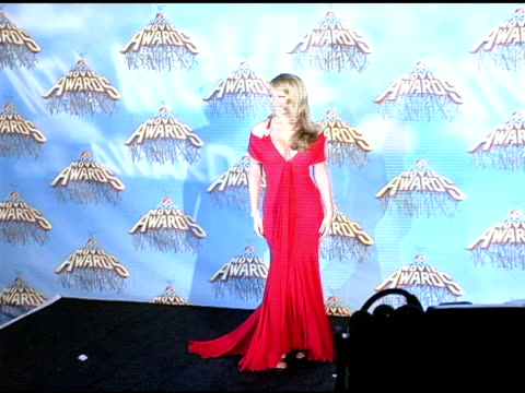 mariah carey at the 2005 mtv movie awards press room at the shrine auditorium in los angeles california on june 5 2005 - mariah carey stock videos and b-roll footage