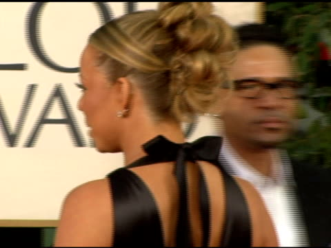 mariah carey at the 2006 golden globe awards arrivals at the beverly hilton in beverly hills california on january 16 2006 - mariah carey stock videos and b-roll footage