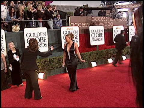 mariah carey at the 2006 golden globe awards at the beverly hilton in beverly hills california on january 16 2006 - mariah carey stock-videos und b-roll-filmmaterial