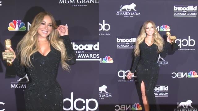 mariah carey at the 2019 billboard music awards - billboard music awards stock videos & royalty-free footage