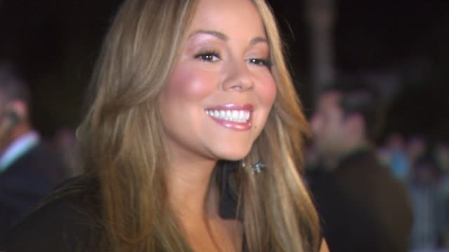 mariah carey at the 21st annual palm springs international film festival opening night gala at palm springs ca - mariah carey stock-videos und b-roll-filmmaterial