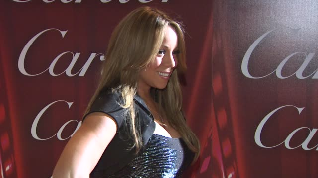 mariah carey at the 21st annual palm springs international film festival opening night gala at palm springs ca - mariah carey stock videos and b-roll footage