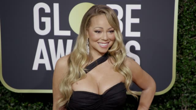 mariah carey at the 75th annual golden globe awards at the beverly hilton hotel on january 07 2018 in beverly hills california - mariah carey stock-videos und b-roll-filmmaterial